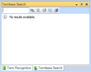 MultiTerm termbase search window in Trados Studio