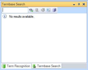 MultiTerm termbase search window in Trados Studio