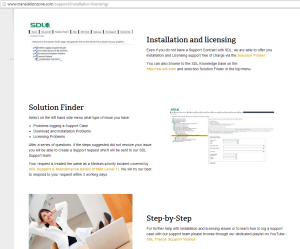 Solution Finder installation and licensing