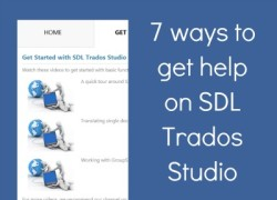 7 ways to get help on SDL Trados Studio