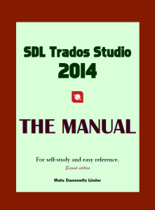 SDL Trados Studio 2014 Manual
