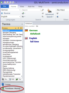 Export termbase from MultiTerm to Excel or Word