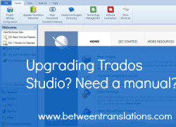 Upgrading to Trados Studio 2014 or sticking with a previous version? Would a manual help?