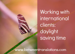 Working with international clients: daylight saving time